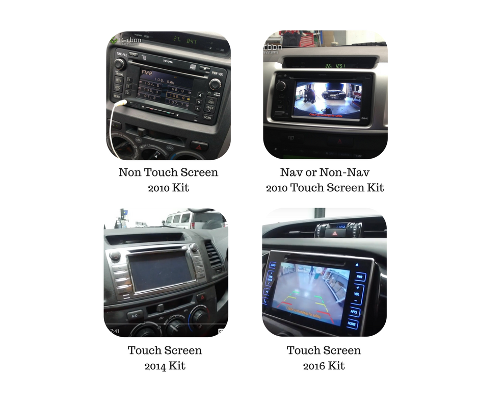 Reverse Camera Kits for Hilux Screen