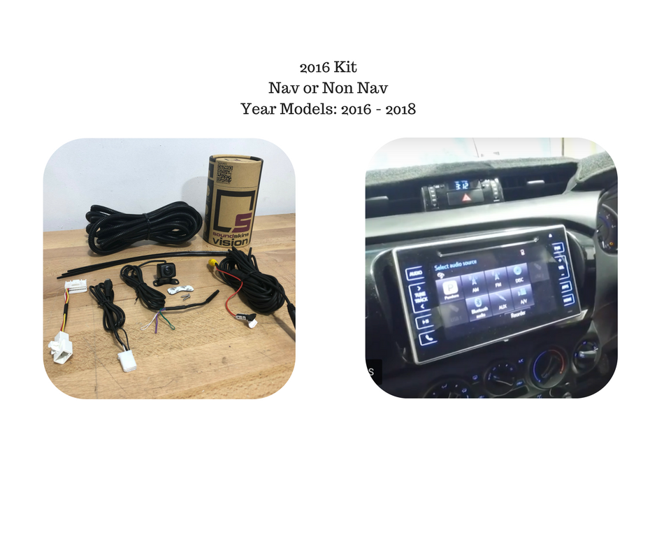 Reverse Camera Kit For Toyota Hilux Factory Screen 2016 To