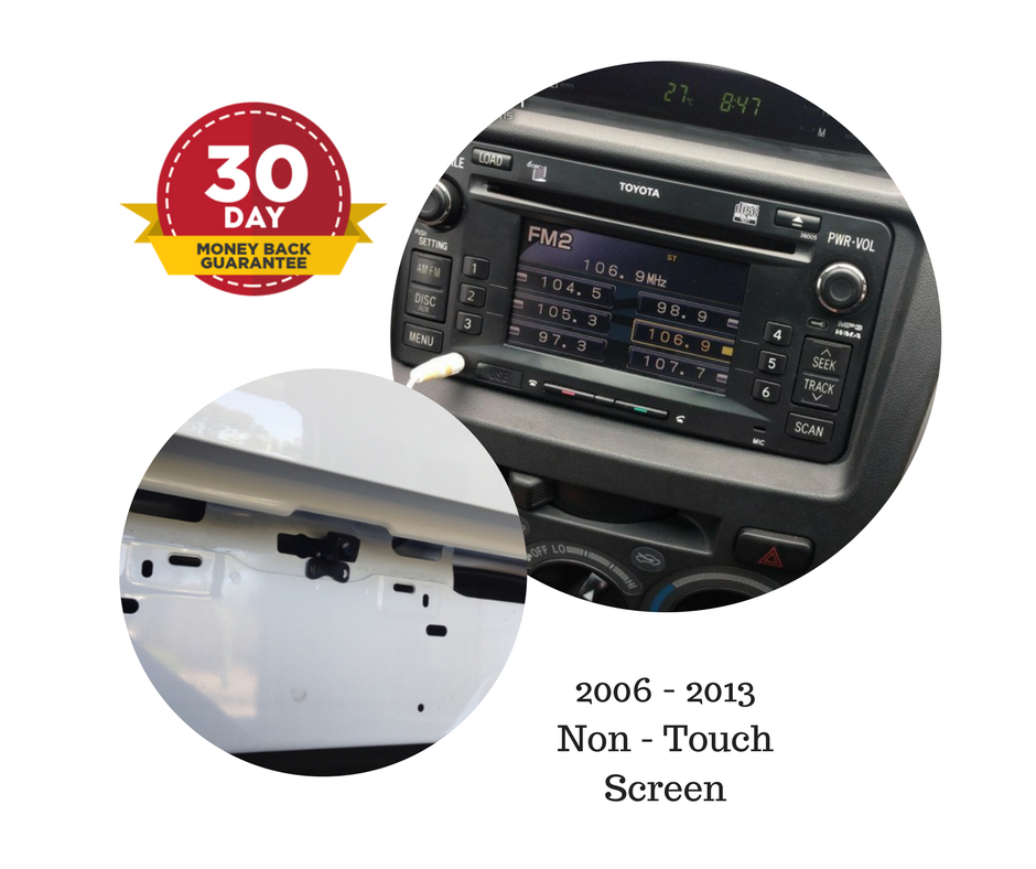 Reverse Camera Kit for Toyota Hilux Factory Stereo 2006 to 2013 SR, SR5 Workmate