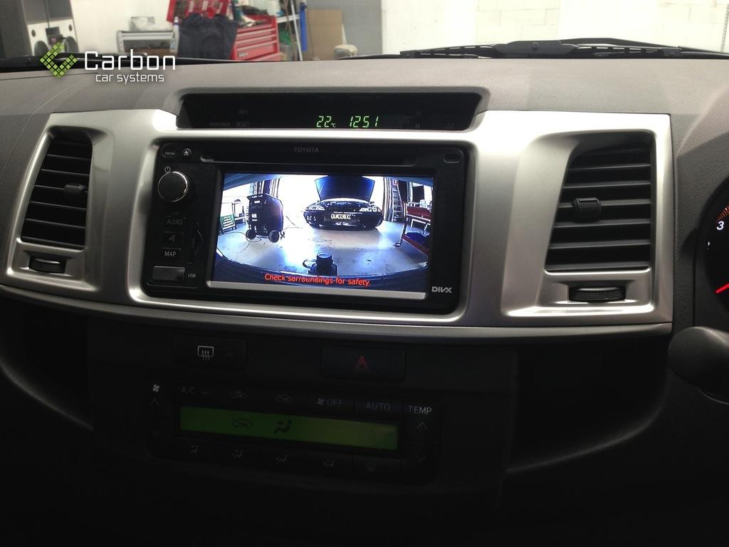 Reverse Camera Kit for Toyota Hilux Factory Screen 2006 to 2013 SR, SR5  Workmate