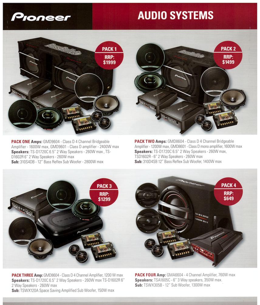 Pioneer Car Audio Package Deals