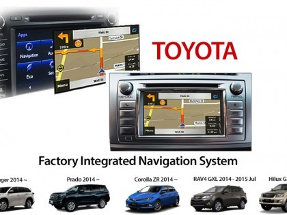 Plug & Play Navigation for 2014 Toyota's