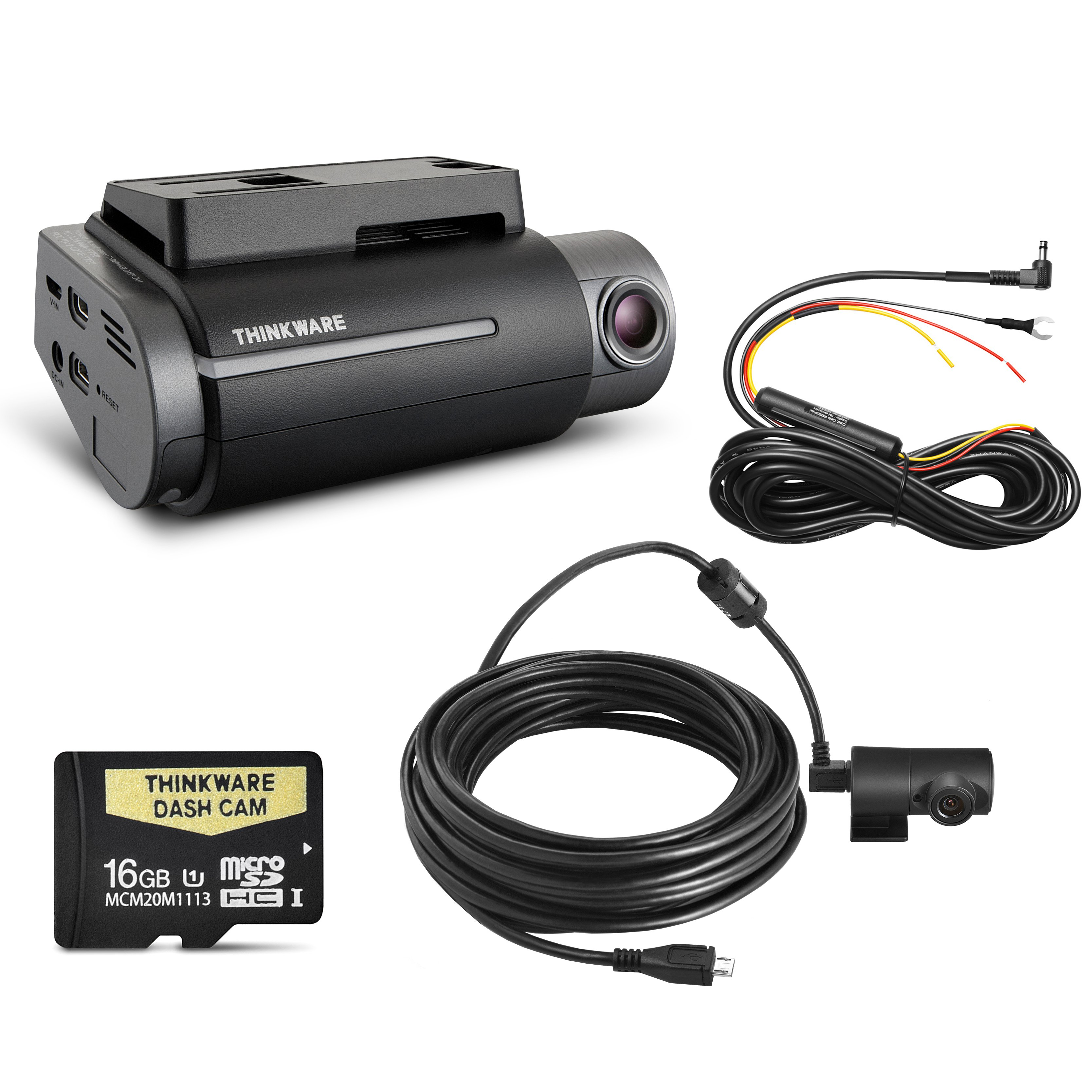 thinkware f750 dash camera kit 16gb front rear carbon. Black Bedroom Furniture Sets. Home Design Ideas