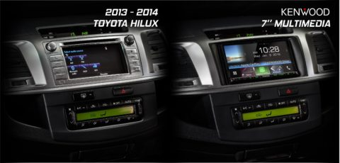 Toyota Hilux 2013 2014 Kenwood DDX9016DABS Complete Solution