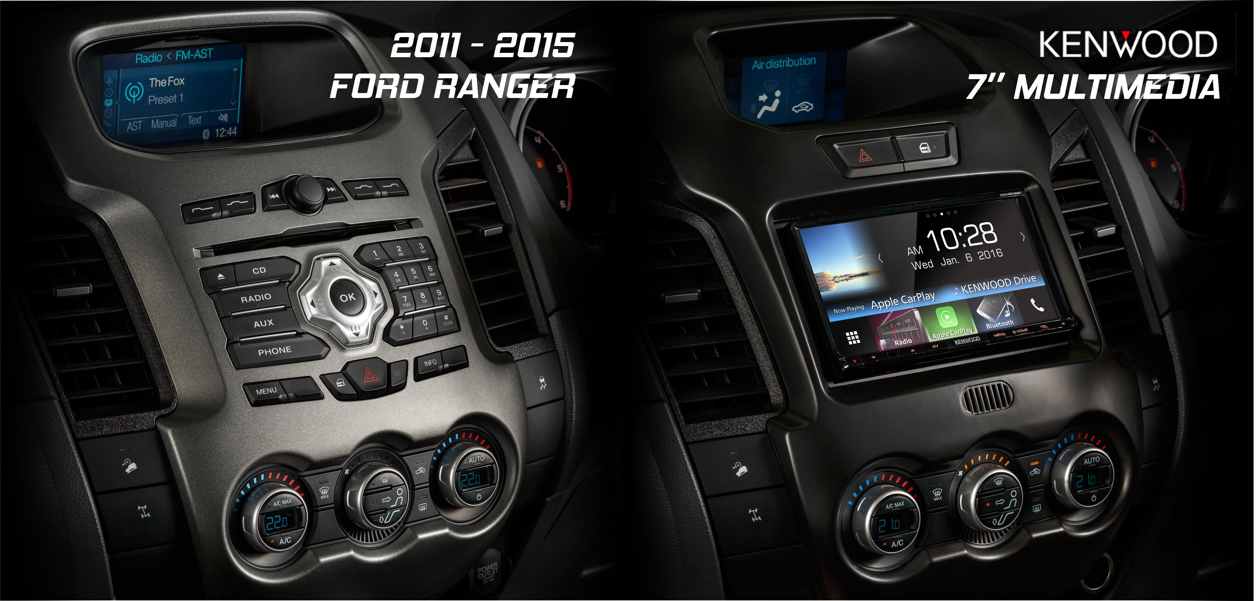 Ford Ranger PX1 Stereo Replacement