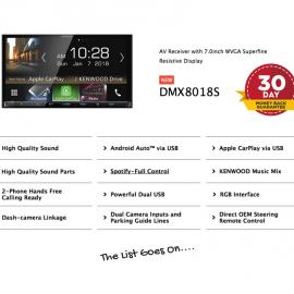 Kenwood DMX8018S forMazda BT50 2012 to 2017