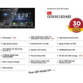 Kenwood DDX9018DABS forMazda BT50