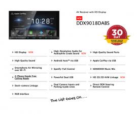 Kenwood DDX9018DABS forFord Ranger PX2