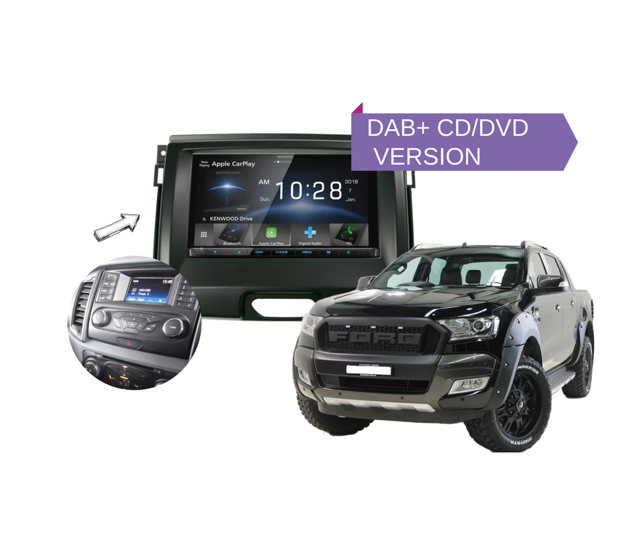 Kenwood Ddx9018dabs For Ford Ranger Px2 2015 To 2018rhcarboncarsystemsau: Ford Ranger Custom Audio System At Gmaili.net
