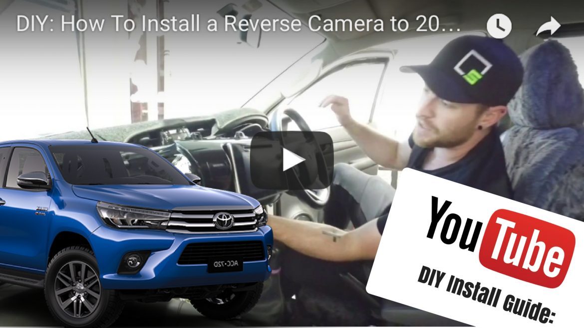 Reverse Camera To Toyota Hilux Factory Screen