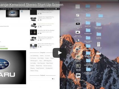 DIY: Change Kenwood Start Screen Image
