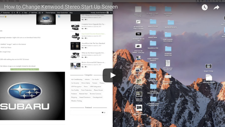 Change Kenwood Start Screen Image | Carbon Car Systems