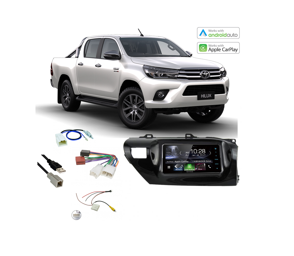 toyota hilux complete stereo solution 2016 2017 kenwood ddx917ws. Black Bedroom Furniture Sets. Home Design Ideas