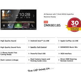 Kenwood DMX8018S forToyota Hilux2014