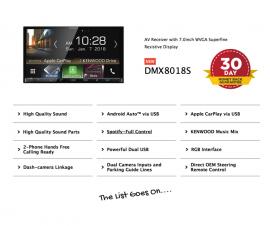 Kenwood DMX8018S Stereo Upgrade for Holden Colorado MyLink