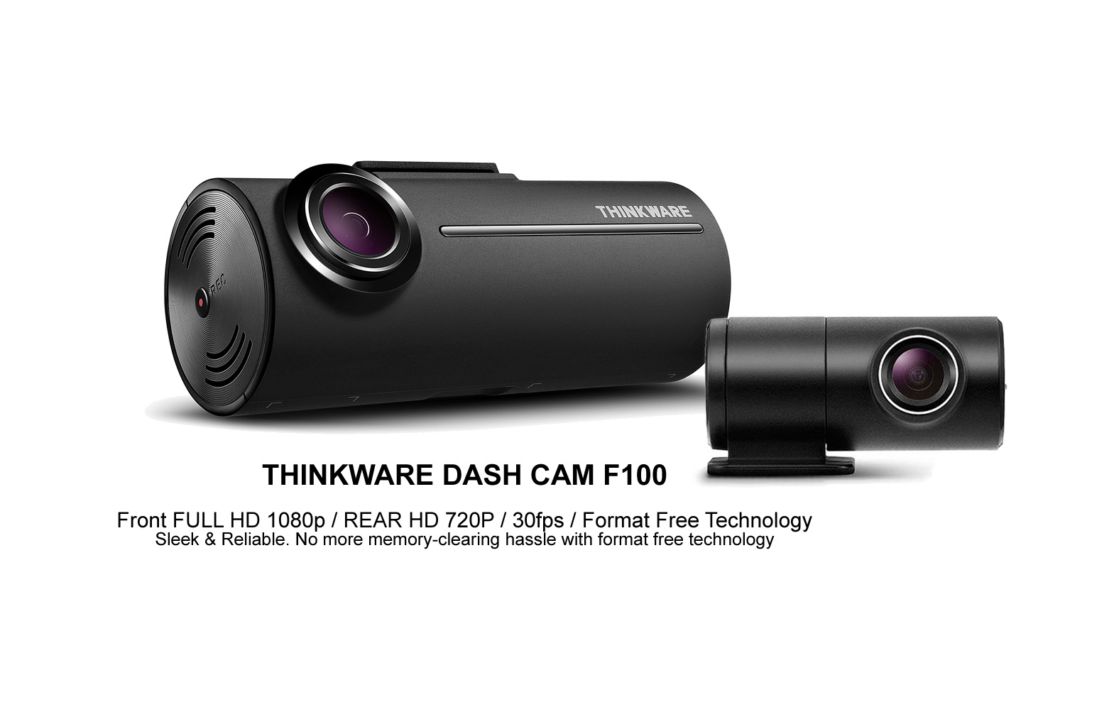 thinkware f100 dual channel dash camera carbon car systems. Black Bedroom Furniture Sets. Home Design Ideas