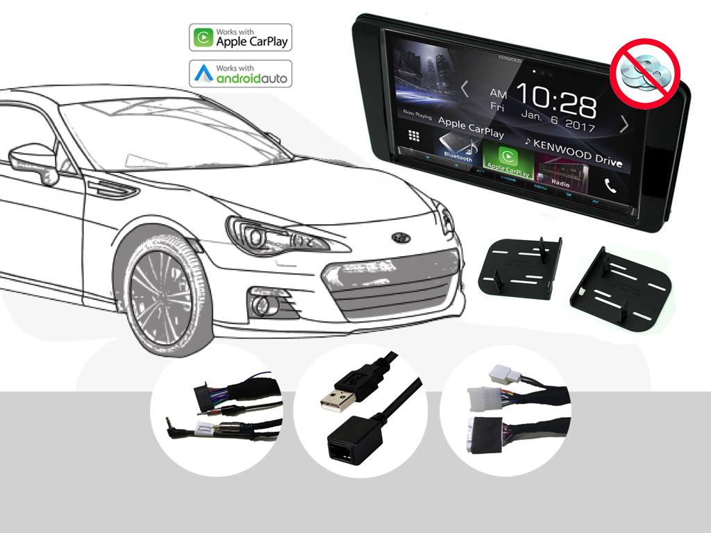 Plug & Play Kenwood DMX7017BTS Stereo for 2017 Subaru BRZ