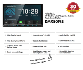Kenwood DMX8019S for Isuzu Dmax Stereo Upgrade   2012 to 2018 Standard Radio Models