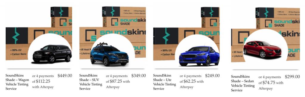 Tint Options SoundSkins Shade