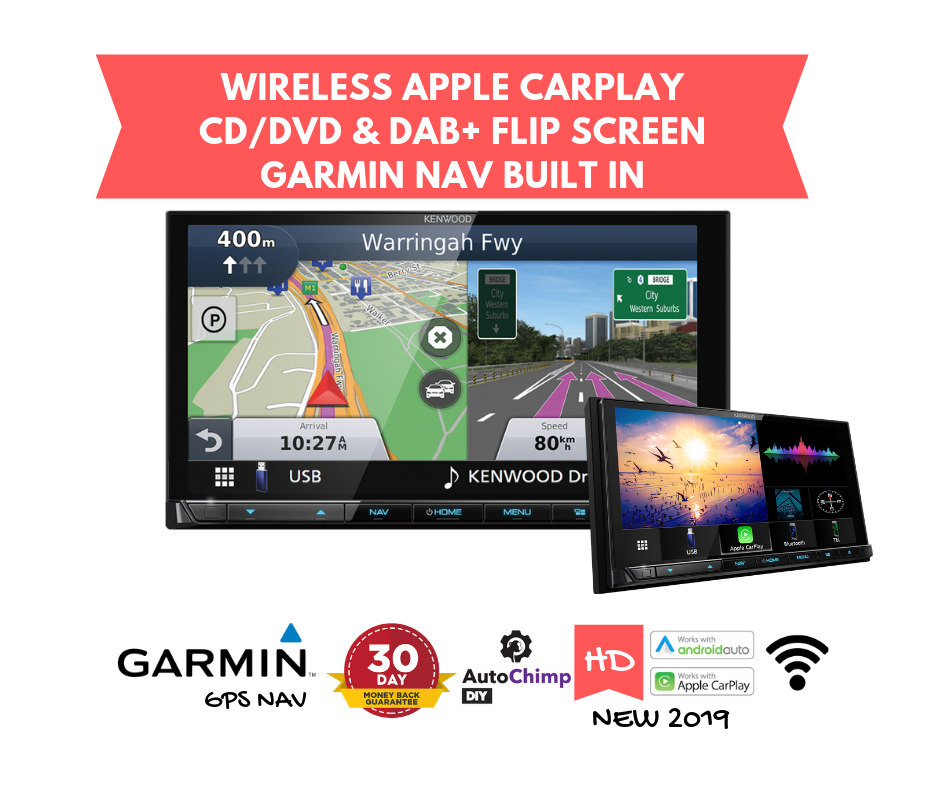 Kenwood DNX9190DABS Navigation Stereo | Garmin GPS  CD/DVD & Wireless Apple  CarPlay Android Auto