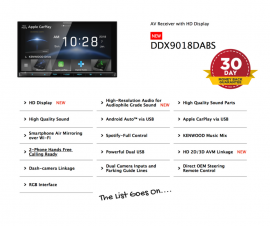 Kenwood DDX9018DABS forToyota Rav4