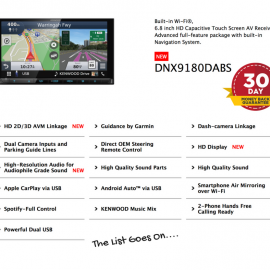 Kenwood DNX9180DABS forFord Ranger PX12012 to 2015 | Stereo Upgrade