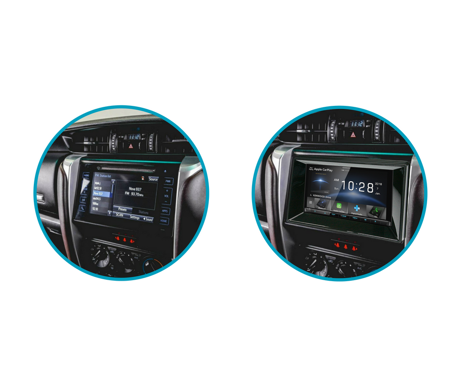 Kenwood DNX9190DABS for Toyota Fortuner Stereo Upgrade | 2015 to 2018