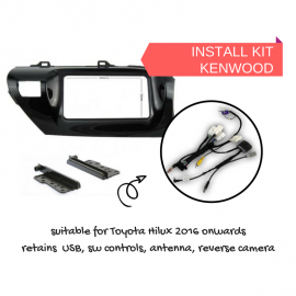 AutoChimp Stereo Install Kit for Toyota Hilux 2016 to 2018 | AC-HILUX-KIT