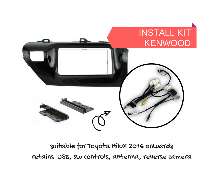 autochimp stereo install kit for toyota hilux 2016 to 2018 ac