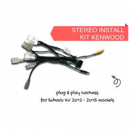 AutoChimp AC-XV-HRN Kenwood Stereo Install Harness for Subaru XV 2012 to 2015