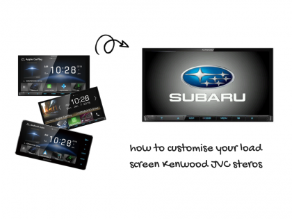 How To Change Kenwood Load Screen | Customise Start Screen 2018