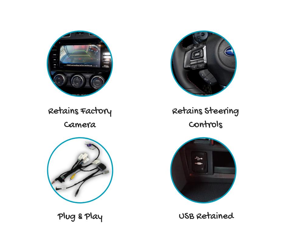 AutoChimp AC-WRX-KIT Kenwood Stereo Install Kit for Subaru Impreza 2015 onwards