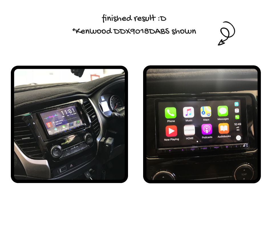 Kenwood DMX8020S for Mitsubishi Triton MQ Stereo Upgrade | 2015 to 2018