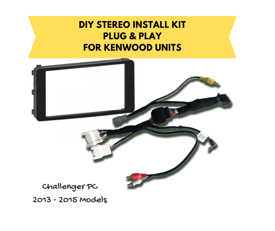 AutoChimp Kenwood Stereo Install Kit for Mitsubishi Challenger PC 2013 to 2015 | AC-CHALLENGER-KIT