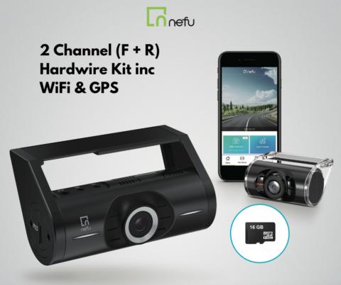 NEFU PLABO Full HD Dash Camera 16gb 2 Channel