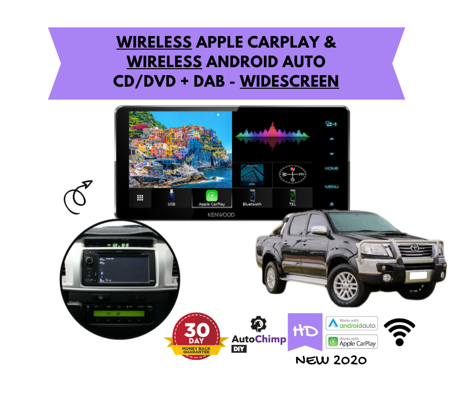 Kenwood DDX920WDABS forToyota Hilux Stereo Upgrade | 2006 to 2013