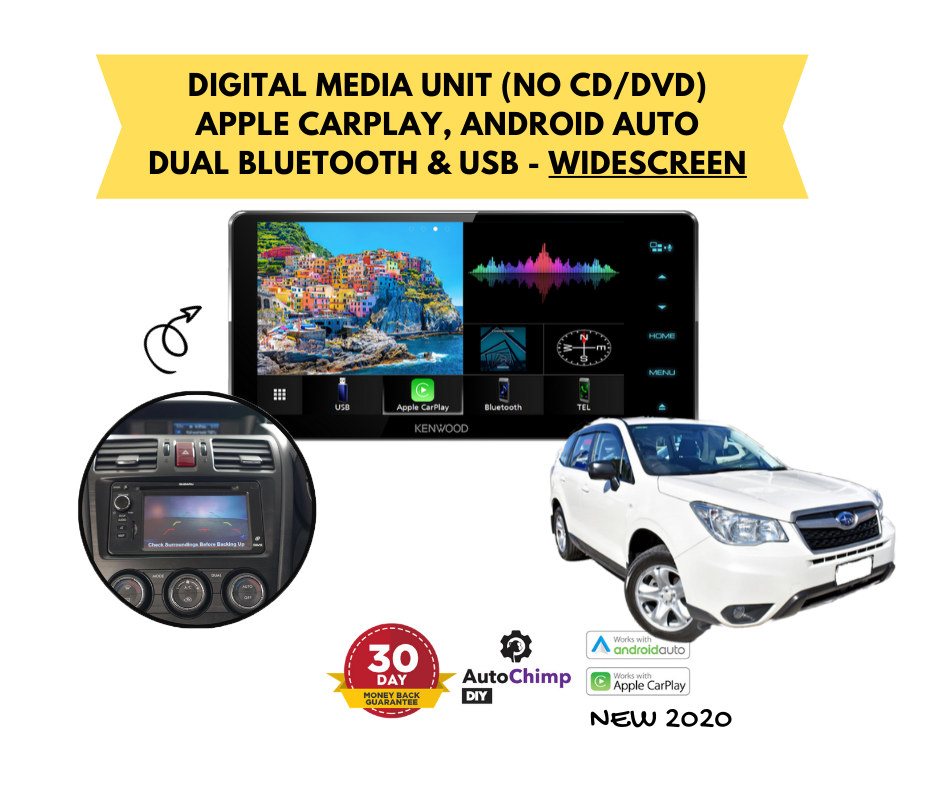 Kenwood DMX820WS for Subaru Forester SJ Stereo Upgrade | 2014 to 2015