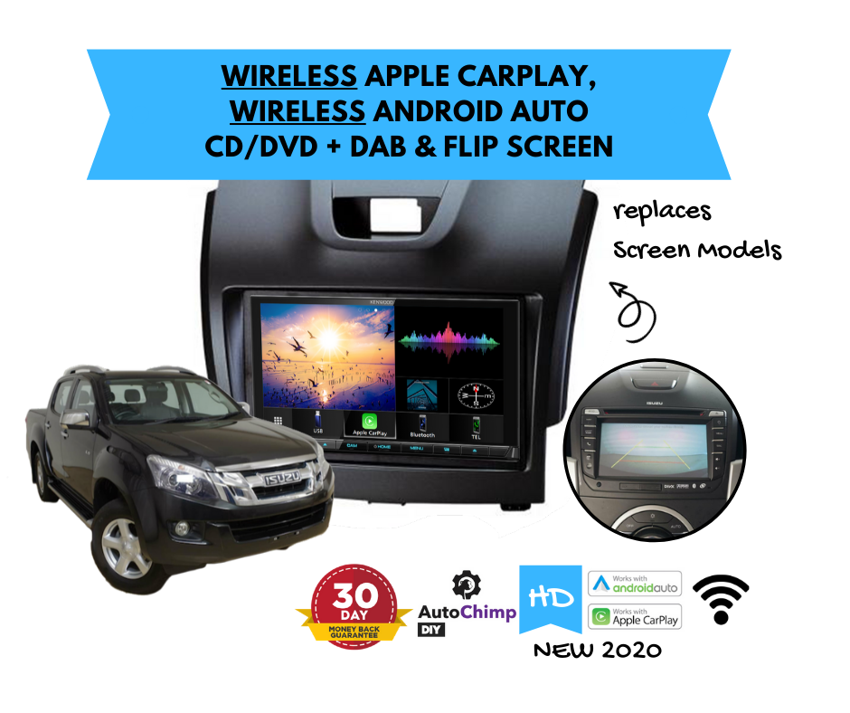 Kenwood DDX9020DABS for Isuzu Dmax Stereo Upgrade | 2012 to 2019 Screen Models