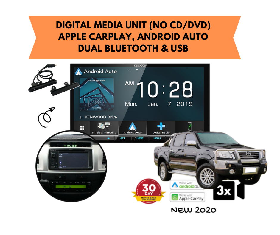 Kenwood DMX8020S forToyota Hilux Stereo Upgrade | 2006 to 2013