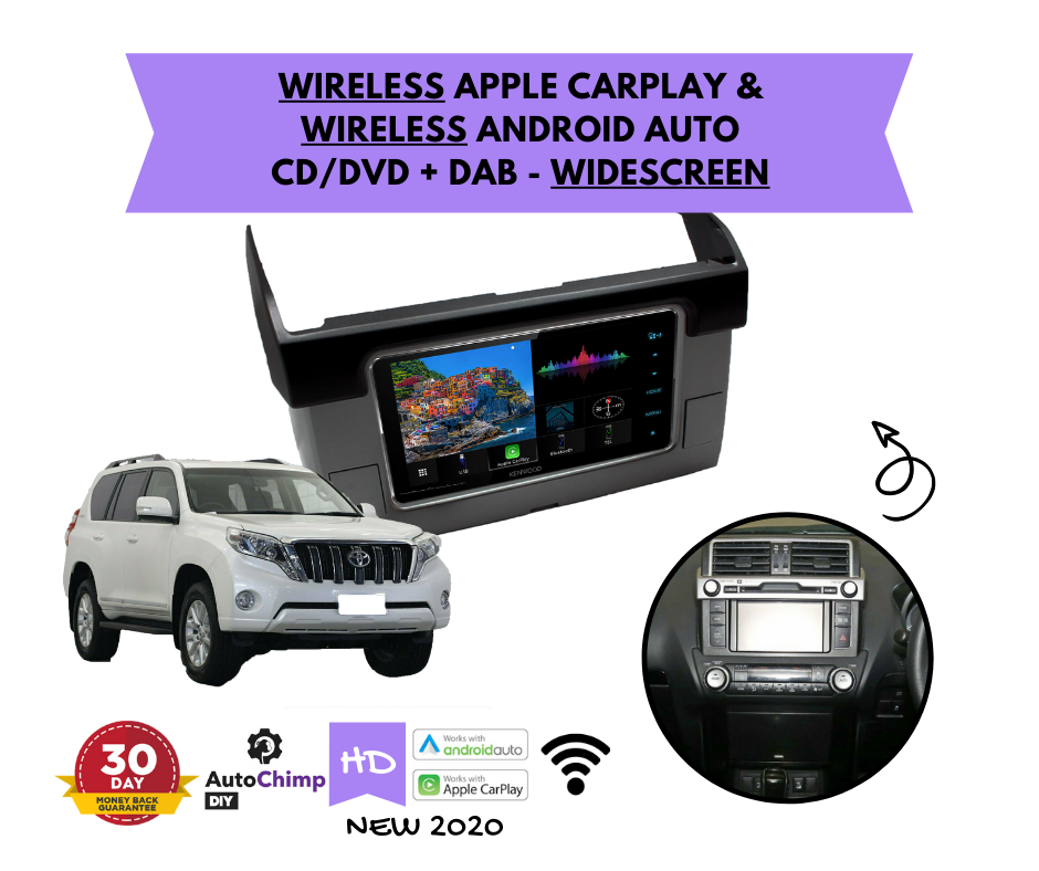 Kenwood DDX920WDABS for Toyota Prado Stereo Upgrade | 2014 to 2019