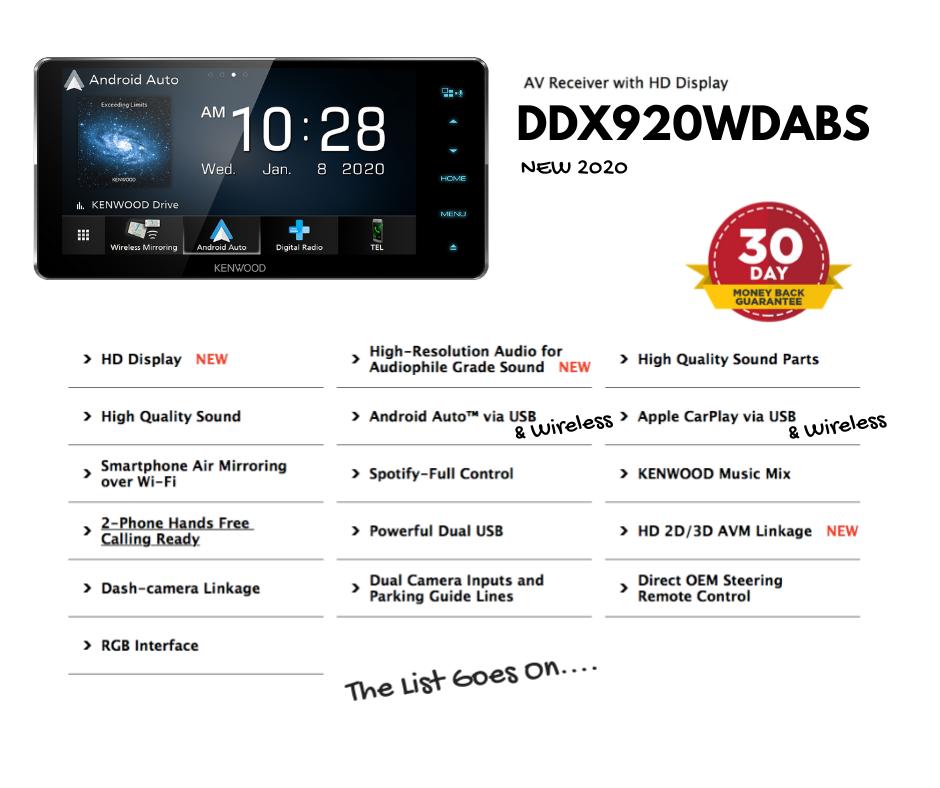 Kenwood DDX920WDABS Car Stereo