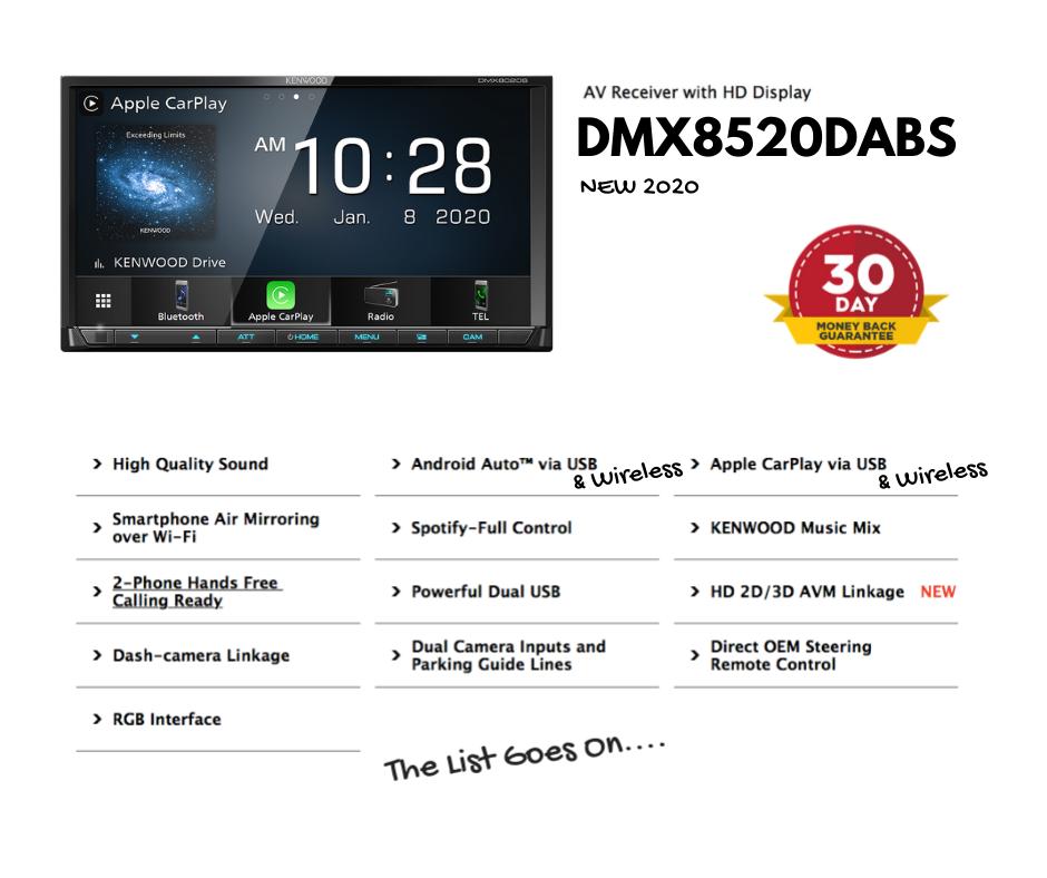 Kenwood DMX8520DABS Car Stereo
