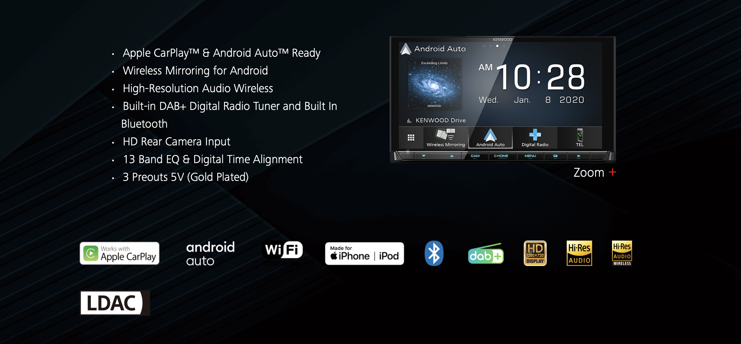 Kenwood DDX9020DABS Car Stereo