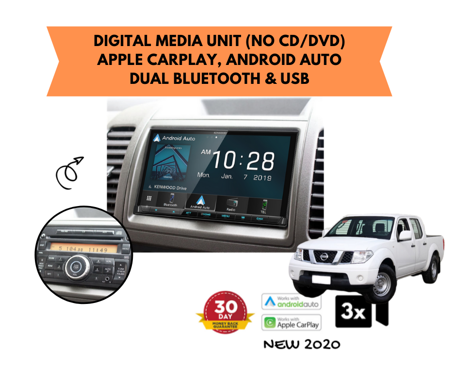 Kenwood DMX8020S for D40 Nissan Navara Stereo Upgrade | 2005 to 2014