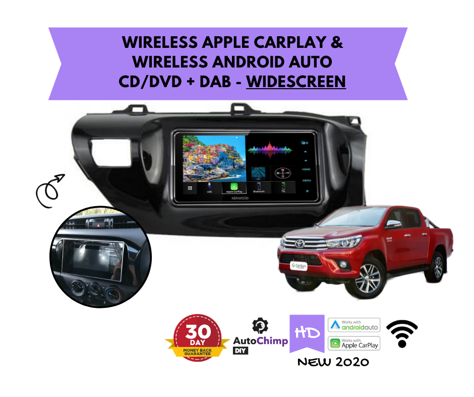 Kenwood DDX920WDABS forToyota Hilux N80 Stereo Upgrade | 2016 to 2020