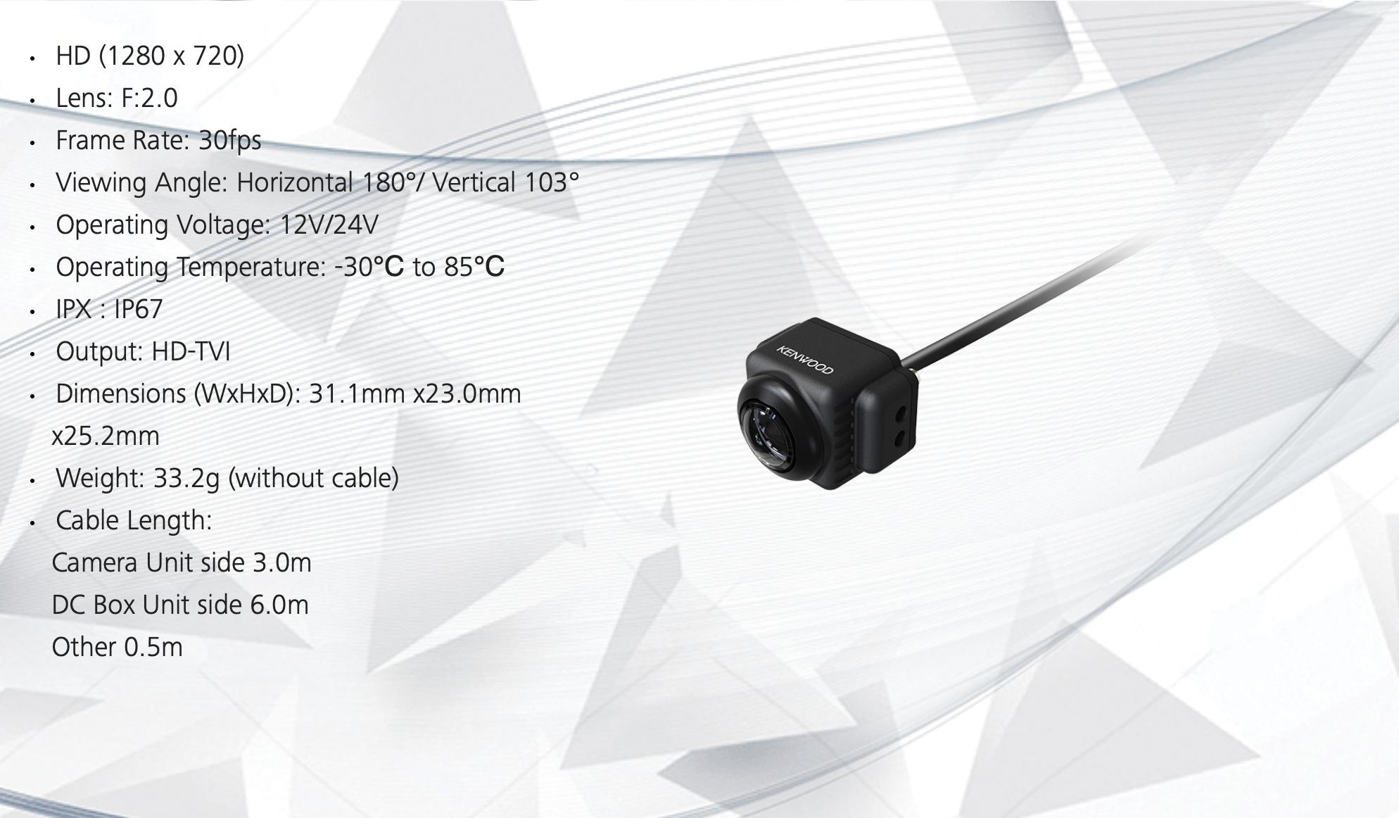 Kenwood CMOS-740HD Reverse Camera | HD Rear Camera