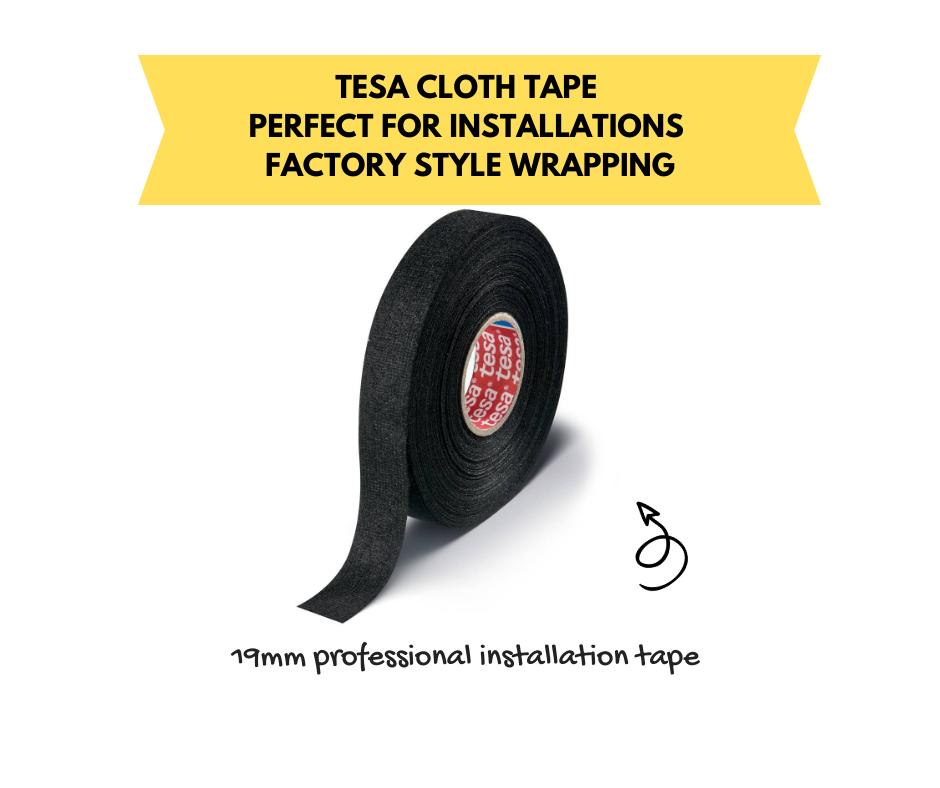 Tesa Cloth Tape 51608 Fleece Interior Insulation Tape   19mm Wide
