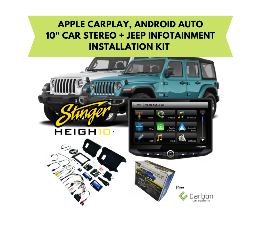 Stinger HEIGH10 Car Stereo for Jeep Wrangler JL & Gladiator | 2018 - 2020 | SRK-JW18EH + UN1810